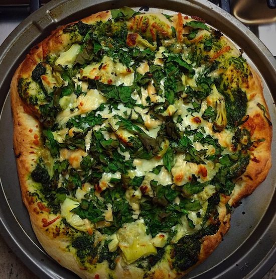 Spinach Artichoke Pizza: Favorite Things Friday