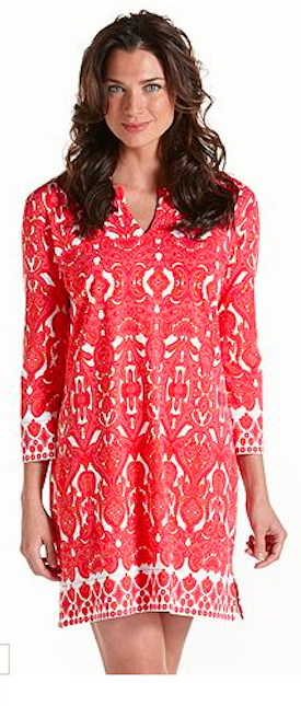 Coolibar ZnO Oceanside Tunic Beach Dress