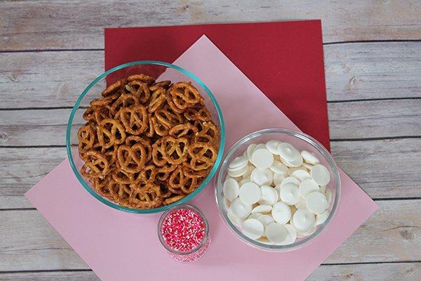 white chocolate covered pretzel supplies