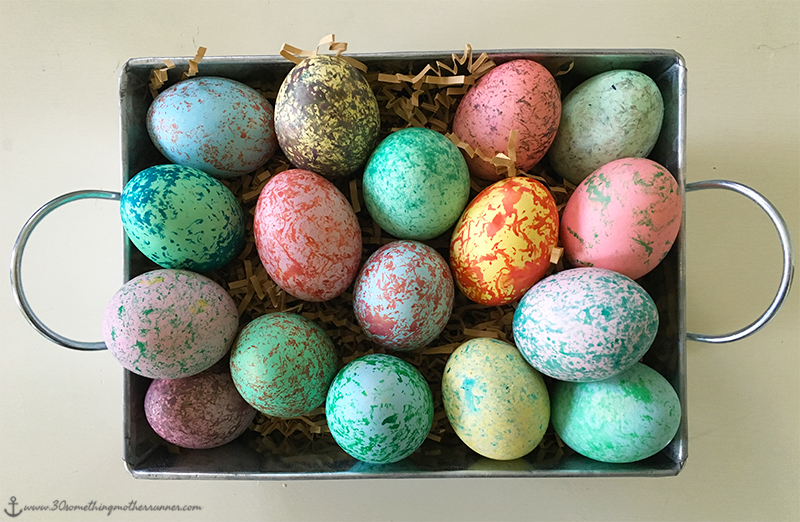 Finsihed Speckled Easter Eggs