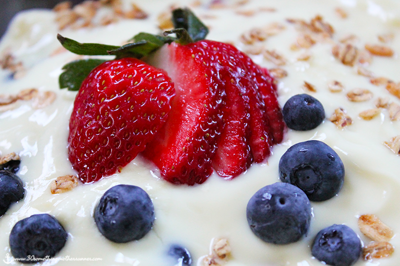 Yogurt, Berry and Granola Trifle Close-up