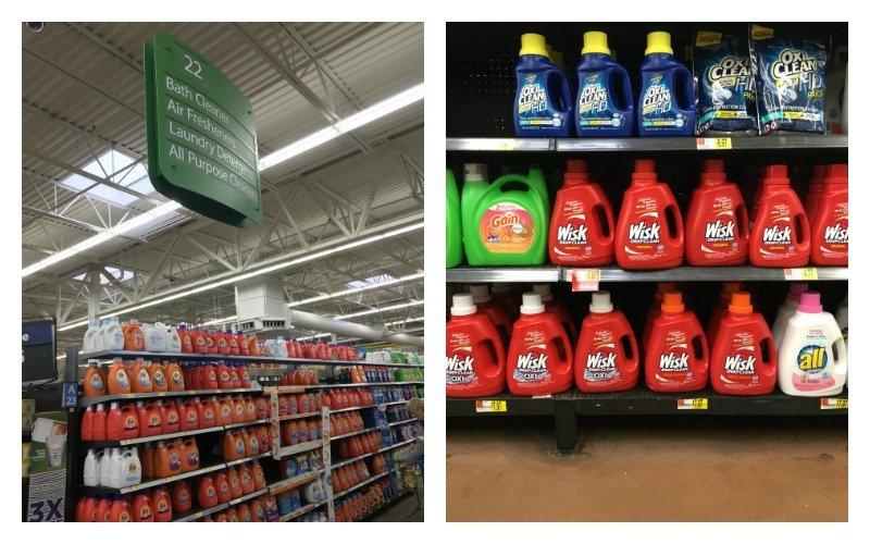 Wisk Deep Clean Walmart Shelf