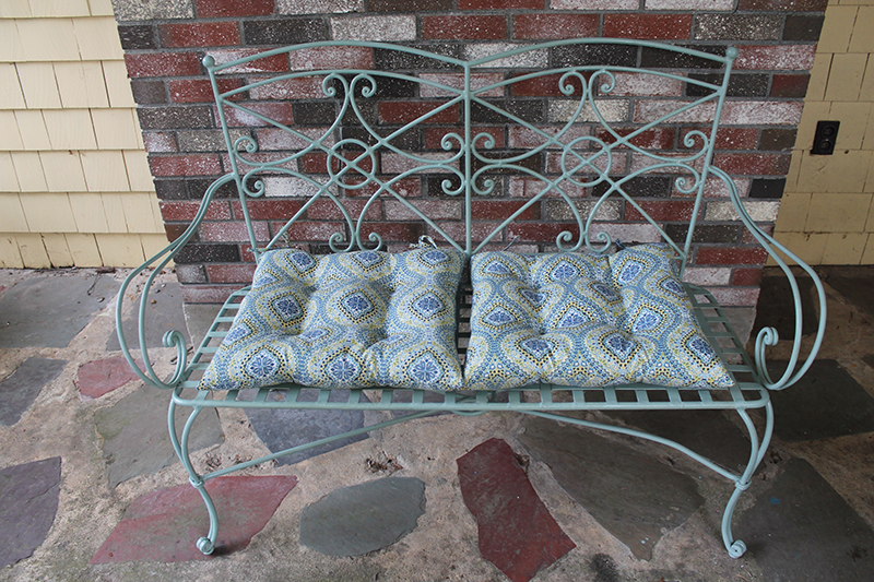 Iron Bench Painted With Chalk Paint