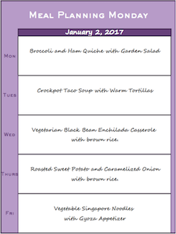 Meal Planning Monday 010217