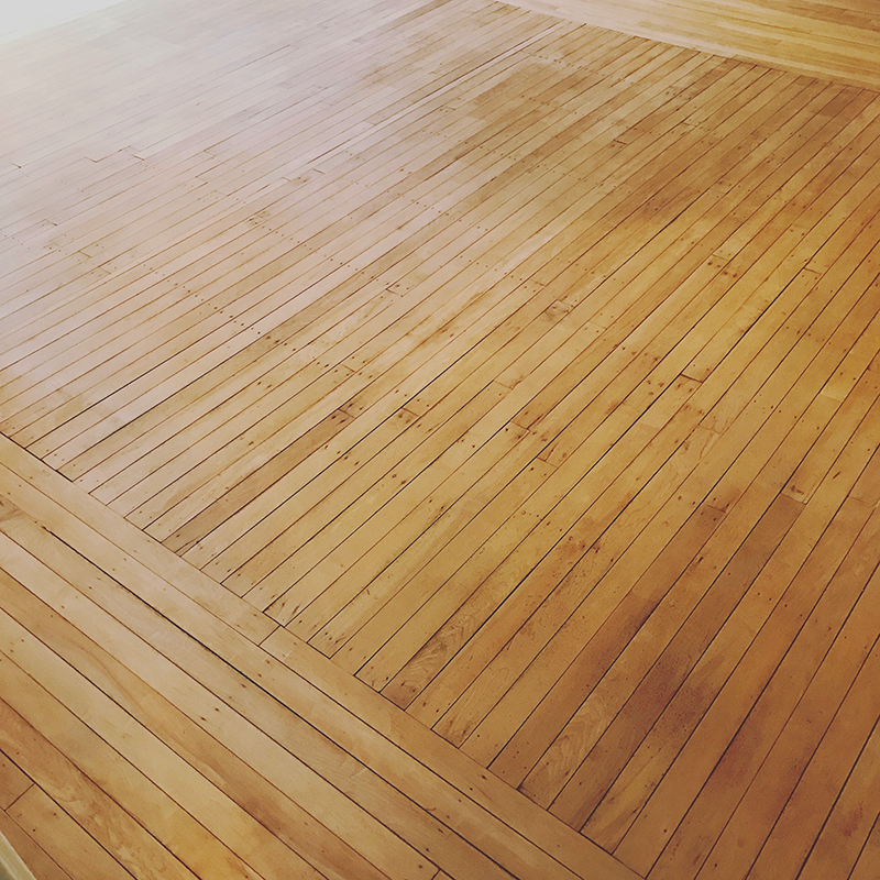 Stained Hardwood Floor