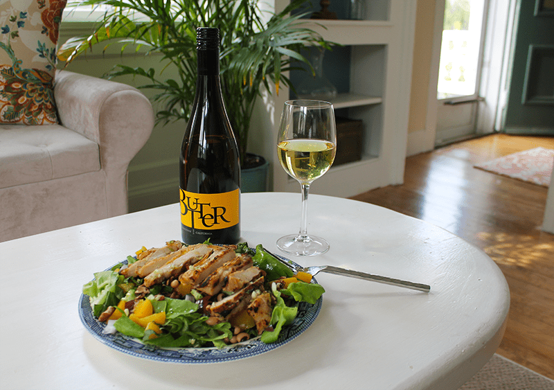 Peach Salad with Butter Chardonnay